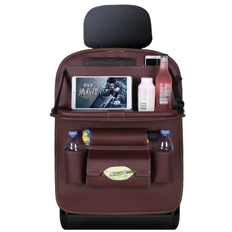 Pu Leather Car Back Seat Organizer