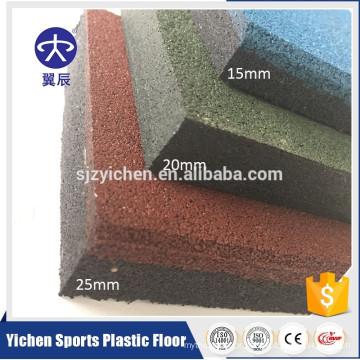 High density and odor free indoor gym rubber floor mat