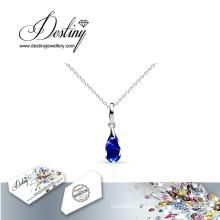 Destin bijoux cristal de Swarovski couleur cristal pendentif & collier