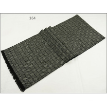 Men′s Womens Unisex Reversible Cashmere Feel Winter Warm Checked Diamond Printing Thick Knitted Woven Scarf (SP818)