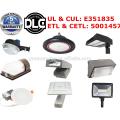 DLC ETL 5 ans de garantie plus bas prix usine 130lm / w led solaire photocellule capteur led crépuscule à l'aube led yard lumière