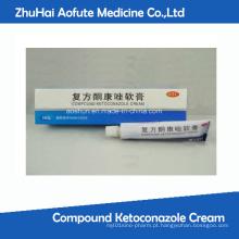Composto Ketoconazole Creme Anti Acne Fungal