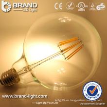 Bombilla de alta calidad LED Bombilla Filamento Luz 8W Filamento Bombilla LED E27