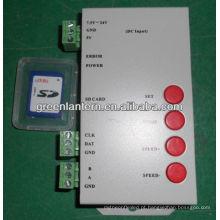 Controlador de cartão sd Controlador com cartão SD de 128MB para luz LED de cor total