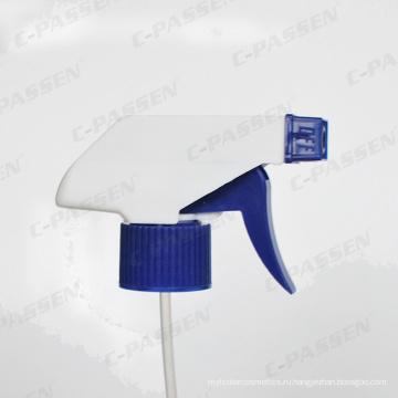Белая пластмассовая рука триггер спрей головка для бутылки
