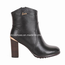 OEM Trendy High Heels Women Boots with Fashion Leather