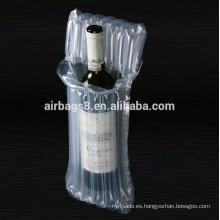 2016 alta calidad cojín inflable vino bolsa protectora