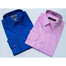 мужская деловая рубашка с длинным рукавом 97% хлопок3% спандекс