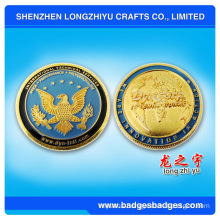 Round Shape School Detective Metal Coin with School Name