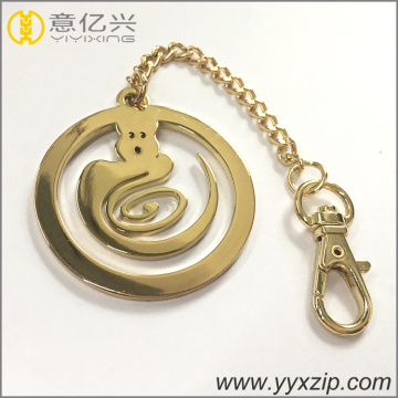 Keyring metal cortado do logotipo do nome do metal