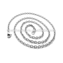 Fashion High Quality Metal Necklace Round Stainless Steel Cable Chain