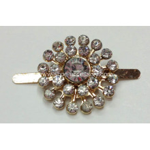 2.3cm Round Metal Shoe Buckles with Rhinestone
