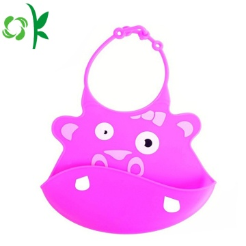 Креативный дизайн Lovely Animal Printed Silicone Baby Bibs