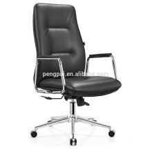 New arrival office chair with chrom base/armrest with wooden cover