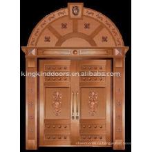 Роскошные медные двери Вилла дверь входная дверь двойная дверь KK-706