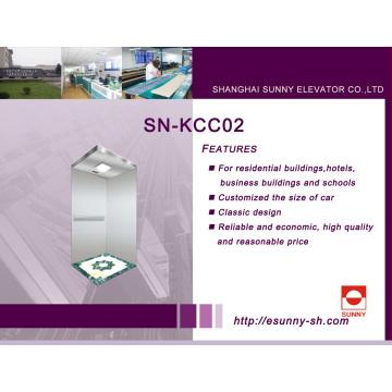 Clásica cabina de ascensor para edificios residenciales, hoteles, edificios de negocios y escuelas