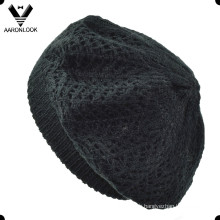 Blouson en jacquard en tricot en acrylique noir féminin