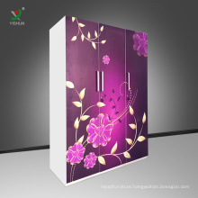 3 door steel almari locker / steel almirah / clothes almirah designs