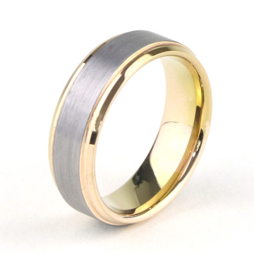 Günstige Two Tone Tungsten Wedding Bands Frauen