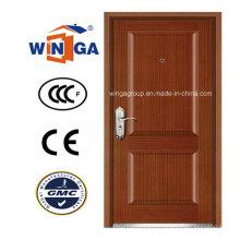 Puerta acorazada de madera de MDF de la seguridad clásica de Norteamérica (W-B4)