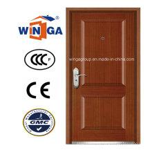North America Classic Security MDF Wood Veneer Armored Door (W-B4)