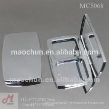 Caixa compacta de retângulo com panela e espelho