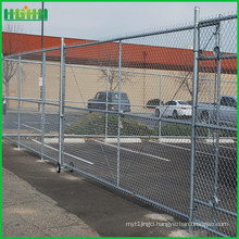 Cheap and fine galvanized square wire mesh chain link fence