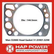 Man D2886 Head Gasket 51.03901.0298