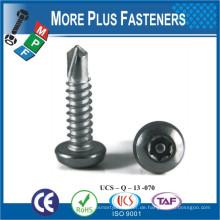 Hergestellt in Taiwan Carbon Steel Edelstahl M4 ~ M12 Selbstbohrende Schraube