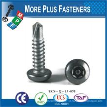 Fabricado em Taiwan Aço inoxidável de aço inoxidável M4 ~ M12 parafuso de perfuração automática
