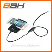 HD 2 em 1 câmera da inspeção do endoscópio do diodo emissor de luz do IOS 5.5mm 6pcs do andróide do endoscópio