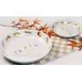 Haonai Elegant design decal ceramic pasta plate