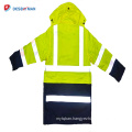 High visibility green and black 3m reflective safety jacket