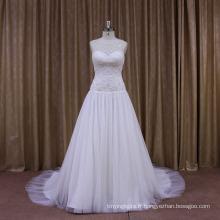 Perlé bon prix nouvelle arrivée robe de mariée