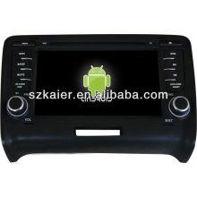Android System lecteur dvd de voiture pour Audi TT avec GPS, Bluetooth, 3G, ipod, jeux, double zone, contrôle du volant