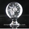 bola de cristal de vidro de bolhas de alta qualidade lidar com botões de empurrar puxar para o armário, armário, gaveta e armário