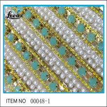 Wholesale Iron Rhinestone Pearl Chain Sheet