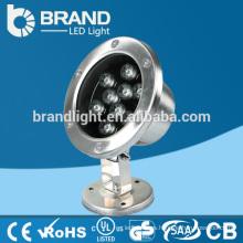 IP68 Alta calidad 12V 9X1W 9W luz subacuática del LED, CE RoHS