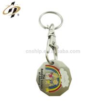 Llavero del token de las compras del metal del logotipo de Deboss del esmalte de encargo de la fábrica