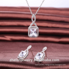 High quality jewelry set elegant accessories princess cut shape jewelry