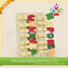 clipe de papel do escritório clipes clipes de madeira decorativa