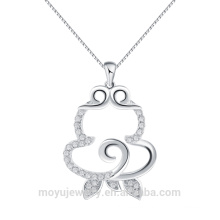 925 sterling silver wholesale chinese new year gift 12 zodiac Monkey Pendant