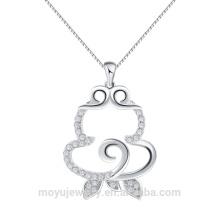 925 стерлингов серебряный оптовый китайский новый год подарок 12 зодиака обезьяна подвеска