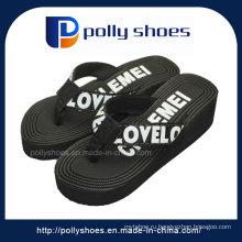 Черный открытым носком на танкетке сандалии каблуки Женский Размер: 36
