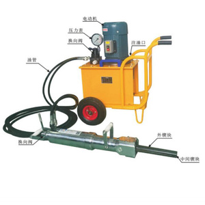 rock and concrete cracking hydraulic splitter
