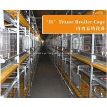 Sistema de gaiola para frangos de corte para equipamentos agrícolas
