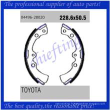 K2267 FSB255 04496-28020 0449628020 0449420121 0449620120 0449420130 0449620110 pour Toyota Daihatsu remplacer les sabots de frein à tambour
