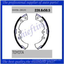 K2267 FSB255 04496-28020 0449628020 0449420121 0449620120 0449420130 0449620110 for Toyota Daihatsu replace drum brake shoes