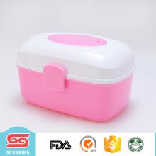 caixa de armazenamento de múltiplos propósitos do caso portátil amigável do eco com 3 cores