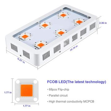 Светодиод УДАРА X6 1800 Вт становится полным спектром света